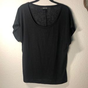 Wet Seal Black Tee - burn out style/thin material!